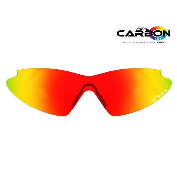 Verre solaire revo rouge EKOI REAL CARBON RACE