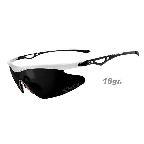 EKOI REAL CARBON Limited Edition White sunglasses with MIRROR lens