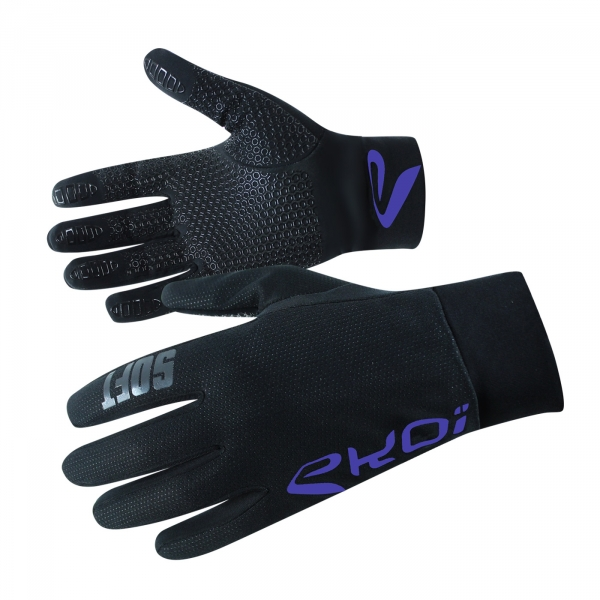 GLOVES EKOI SOFT BLUE