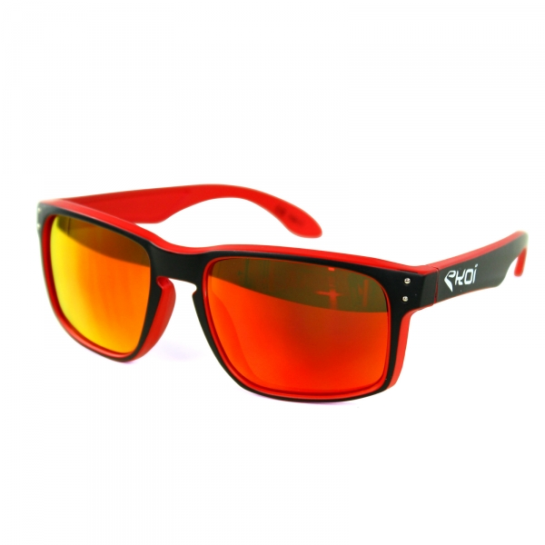 EKOI GLASSES Lifestyle WHITE RED