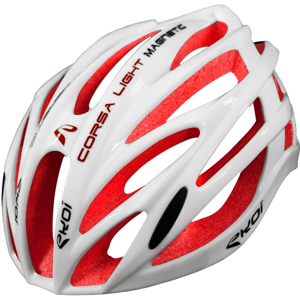 EKOI CORSA LIGHT 2017 WHITE & RED HELMET