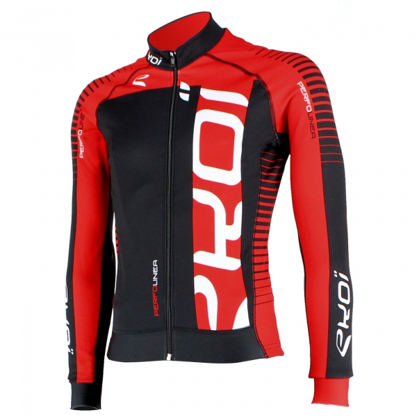 Winter Jersey EKOI PERFOLINEA 2016 Black/Red