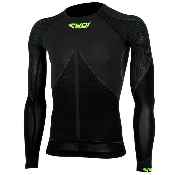 EKOI TECH 3 LS black crew neck base layer