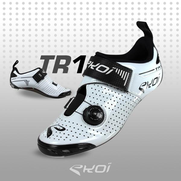 Triathlonschoenen EKOI TRI1 LTD Koolstofvezel Wit