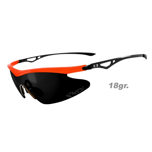 EKOI Real Carbon Limited edition orange mirror sunglasses