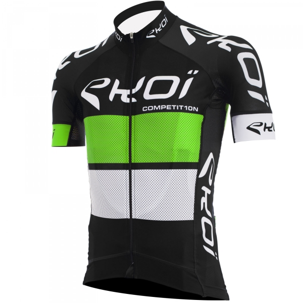 EKOI COMP10 black, green & white short sleeve jersey