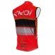 Gilet coupe vent EKOI COMP10 Rouge noir blanc