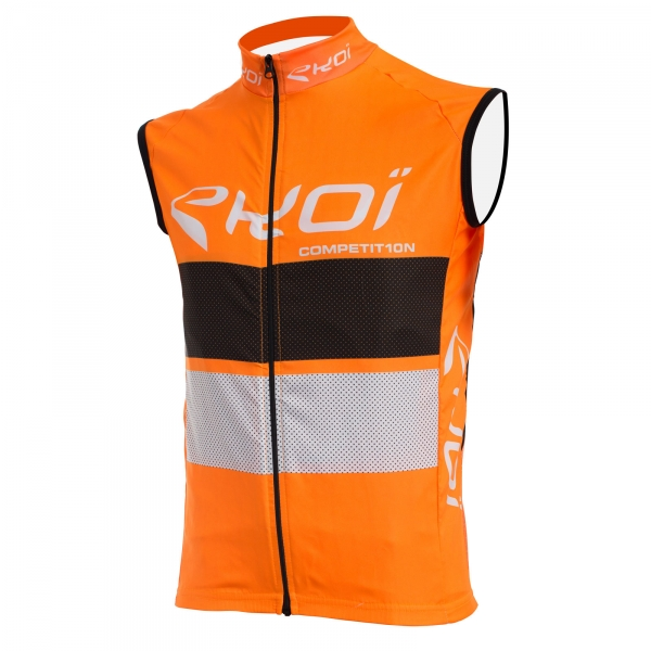 Gilet coupe vent EKOI COMP10 Orange noir blanc