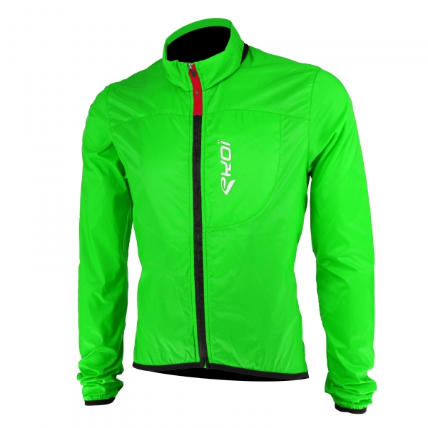 EKOI Rain Stop Pocket green fluo windproof jacket