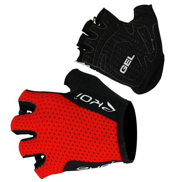 EKOI COMP10 red gel short-fingered cycling gloves
