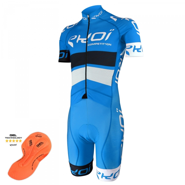 EKOI COMP10 Blue Black White skinsuit with gel insert