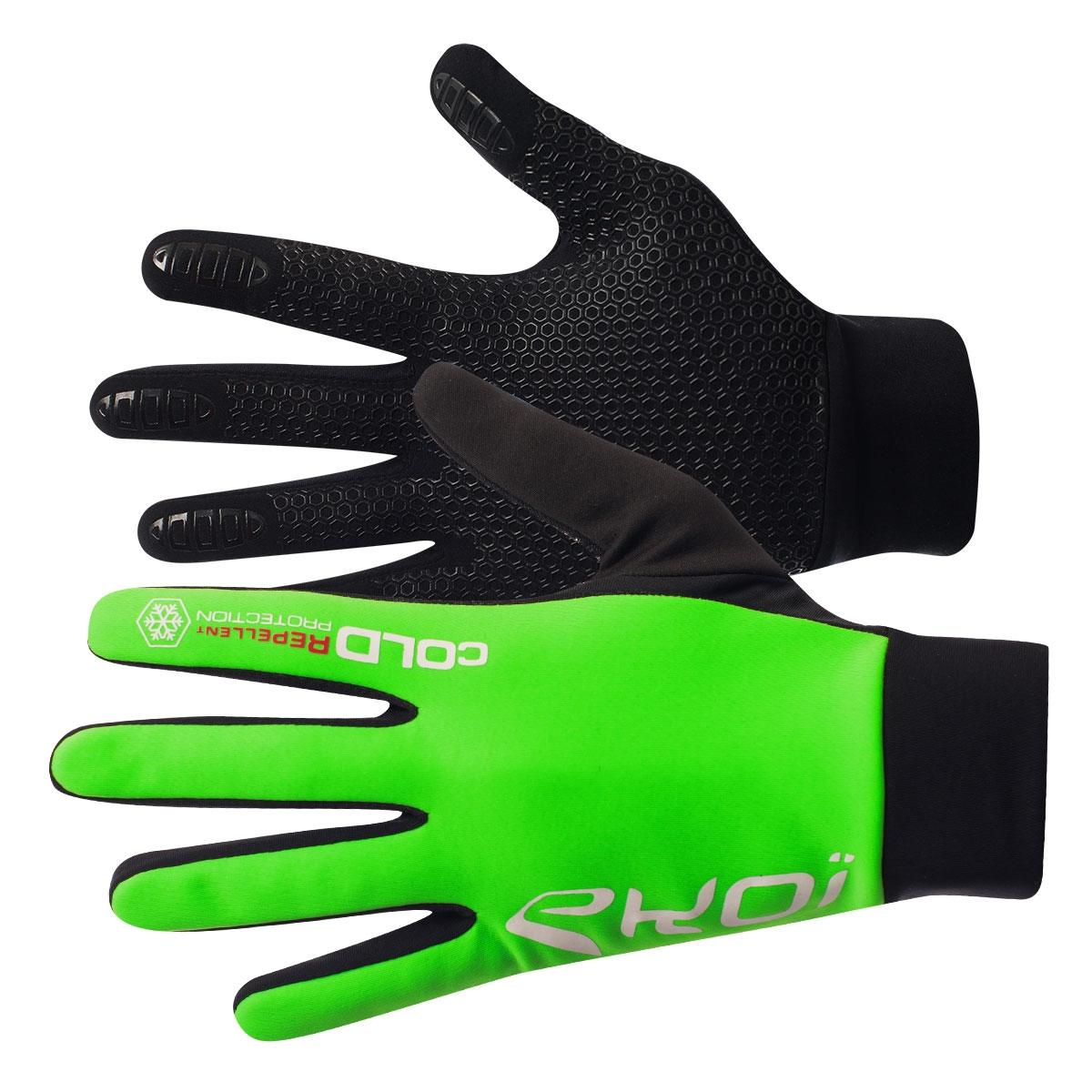 EKOI Fluo green Cold 2 winter gloves