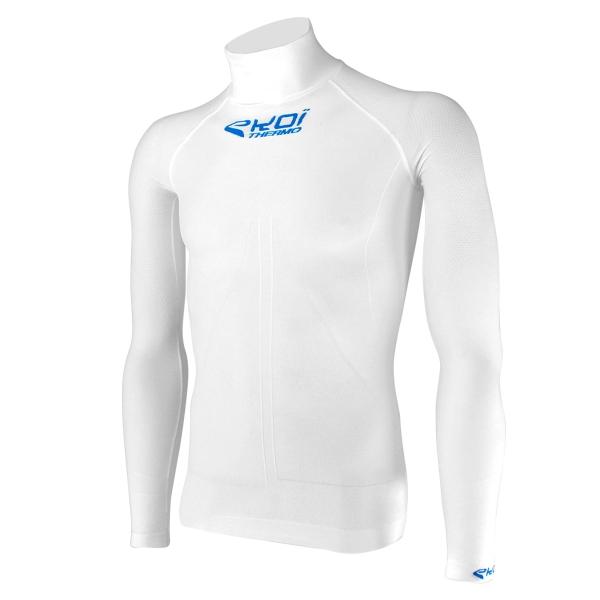 Biała koszulka z wysokim kołnierzem EKOI ML Tech 4