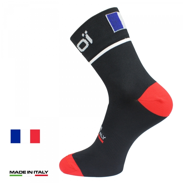EKOI NATION Black France summer cycling socks