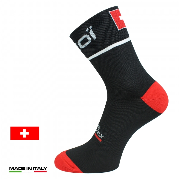 EKOI NATION Black Switzerland summer cycling socks