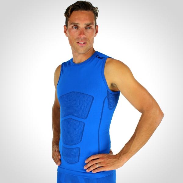 Koszulka bez rękawów EKOI RUN Niebieska