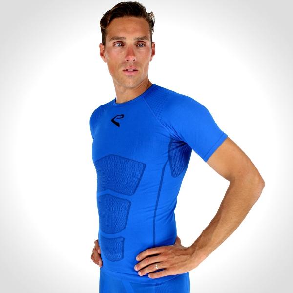 Shirt EKOI RUN korte mouwen Blauw