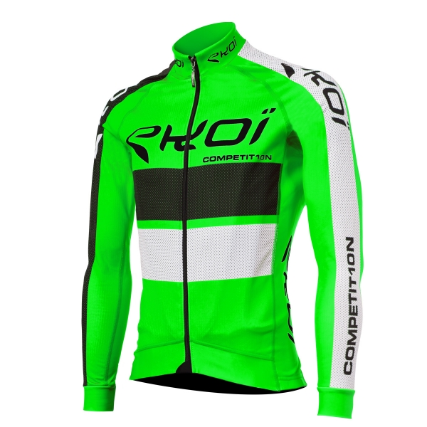 EKOI COMP10 Green fluo long sleeve cycling jersey