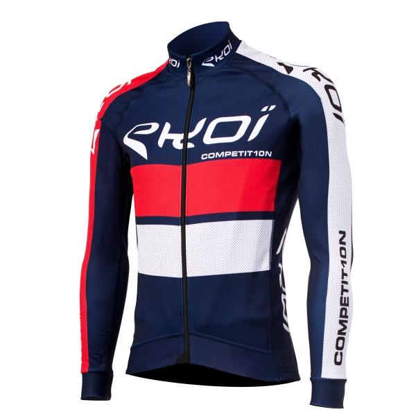EKOI COMP10 French blue long sleeve cycling jersey
