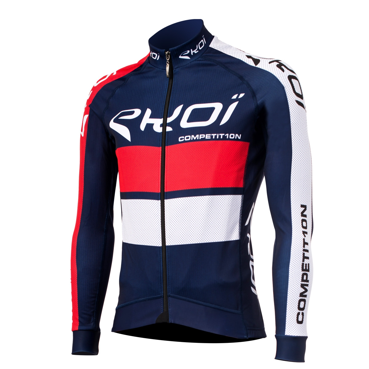 Ekoi Comp10 French Blue Long Sleeve Cycling Jersey