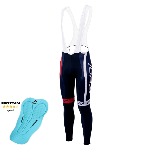 EKOI COMP10 French blue bib tights with Proteam pad