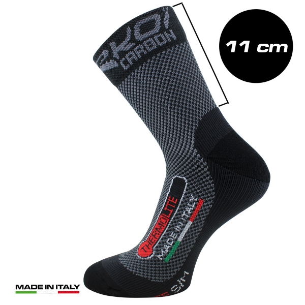 EKOI Thermolite CARBON FIBER standard cuff winter cycling socks