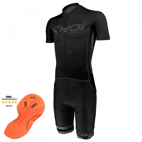 EKOI Corsa Light Ghost jersey & GEL bib short Bundle