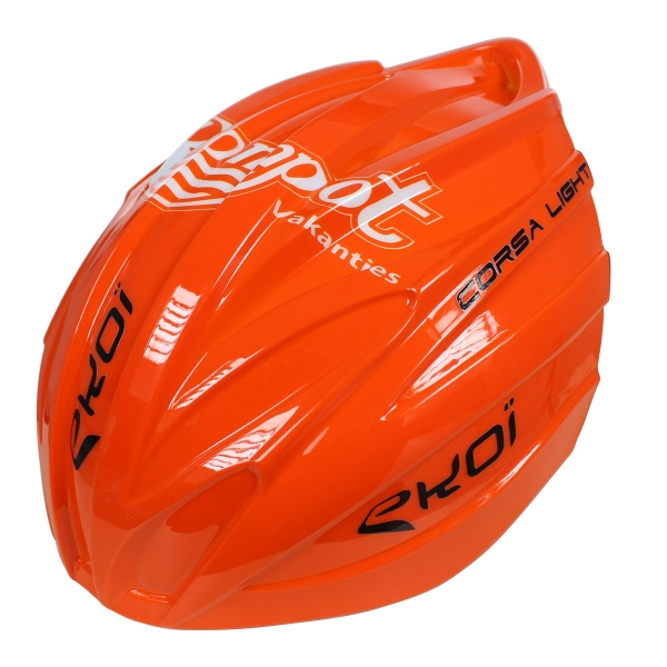 EKOI removable Roompot team Orange aero shell for the CORSA LIGHT 2017 helmet