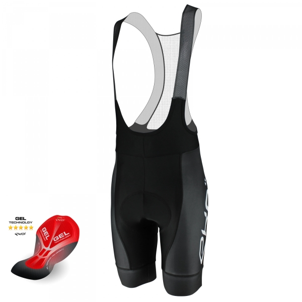 EKOI PROTECT Black bib short with GEL pad