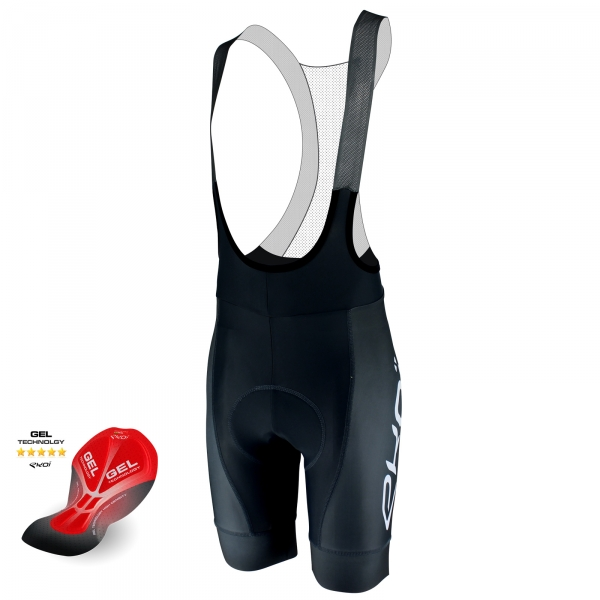 EKOI PROTECT Grey bib short with GEL pad