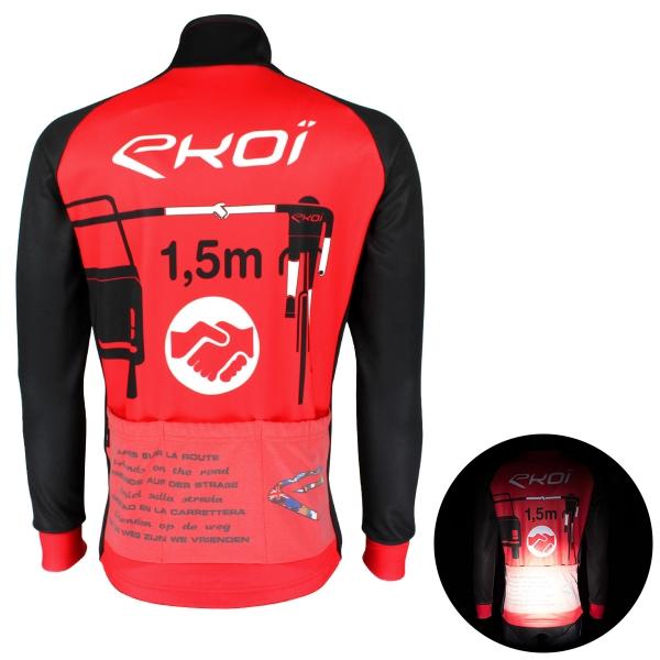 Veste thermique EKOI PROTECT Rouge Noir