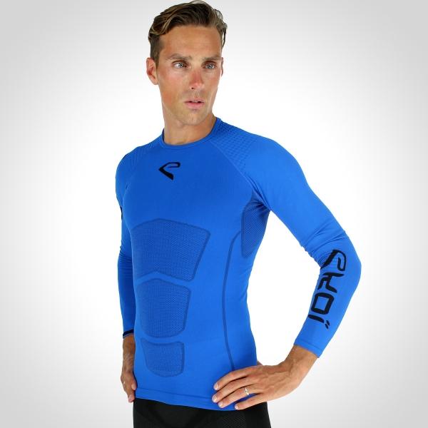 EKOI RUN Blue long sleeve running top