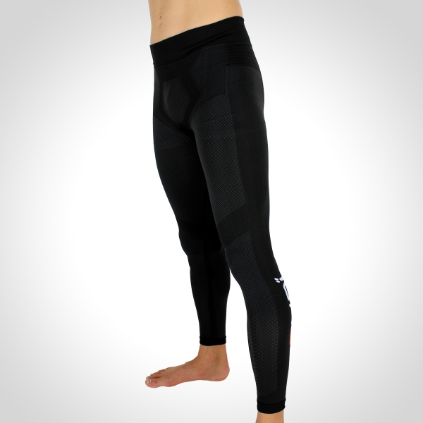 EKOI RUN Black full running tights in DRYARN