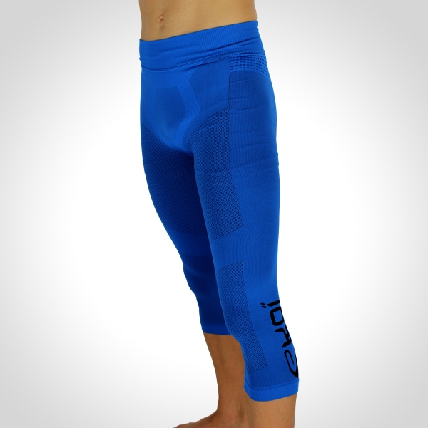 EKOI RUN Blue 3/4 running tights