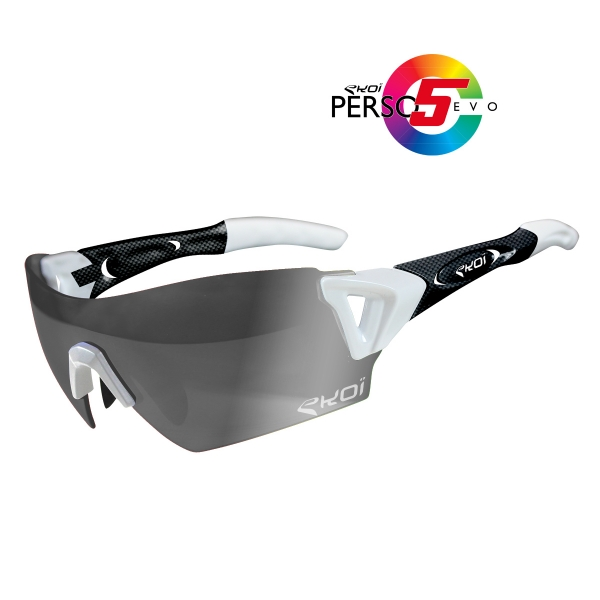 EKOI PERSOEVO5 limited edition White / Carbon sunglasses Cat1-2 photochromic lens