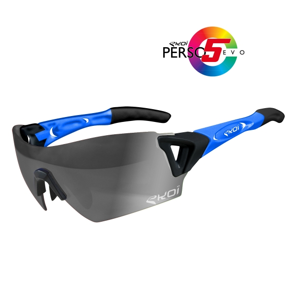 EKOI PERSOEVO5 limited edition Matt black / Blue sunglasses Cat1-2 photochromic lens