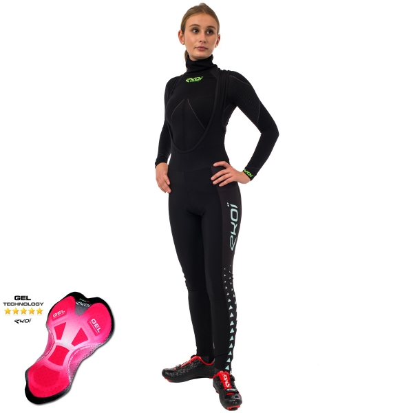 EKOI LADY Celeste Triangles bib tights with GEL pad