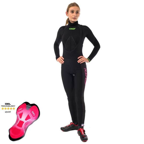 EKOI LADY Algoritmo Pink bib tights with GEL pad