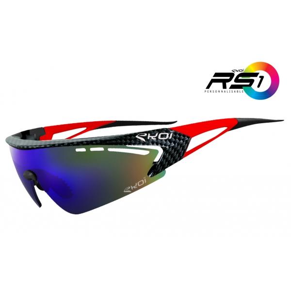 EKOI RS1 Limited Edition Red carbon sunglasses Revo Blue lens
