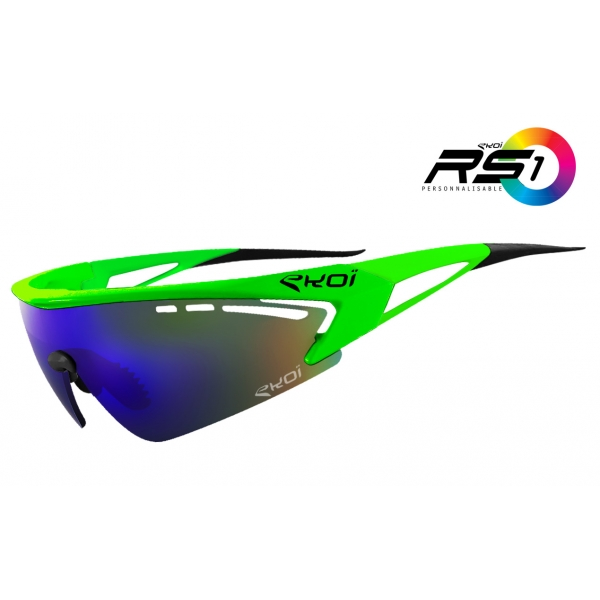 EKOI RS1 Limited Edition Green fluo sunglasses Revo Blue lens