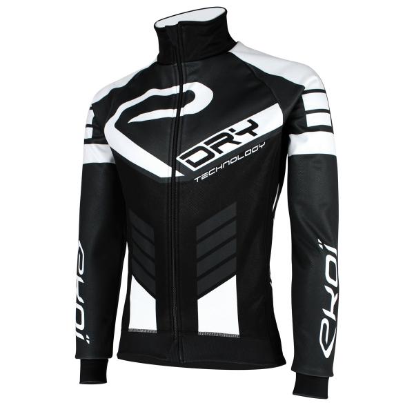Czarno-szaro-biała bluza termoaktywna EKOI DRY