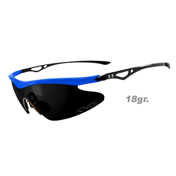 EKOI REAL CARBON Limited Edition Sky blue sunglasses with MIRROR lens
