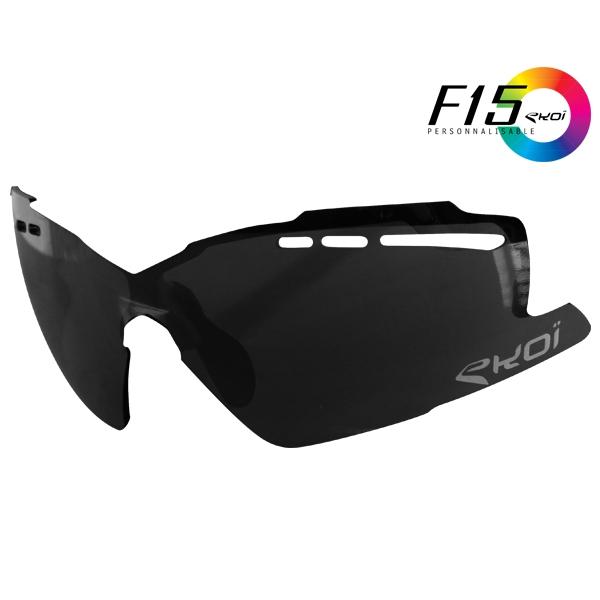Zonnebrilglas F15 Spiegelend Zwart