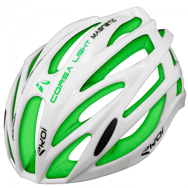 EKOI CORSA LIGHT WHITE & GREEN HELMET