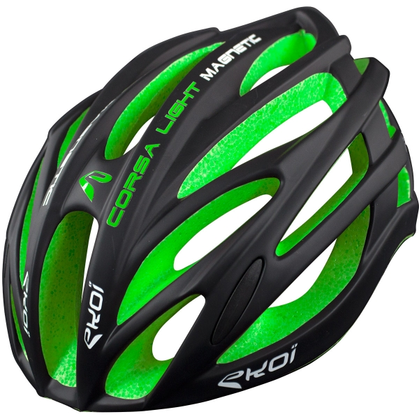 EKOI CORSA LIGHT 2017 BLACK & GREEN HELMET