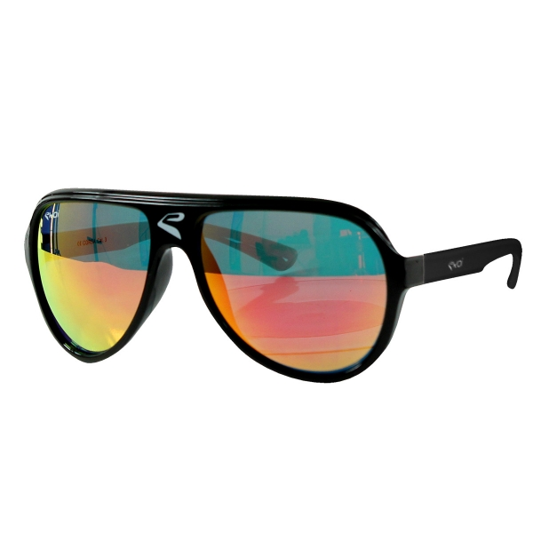 EKOI CORSA black frame red revo lens sunglasses