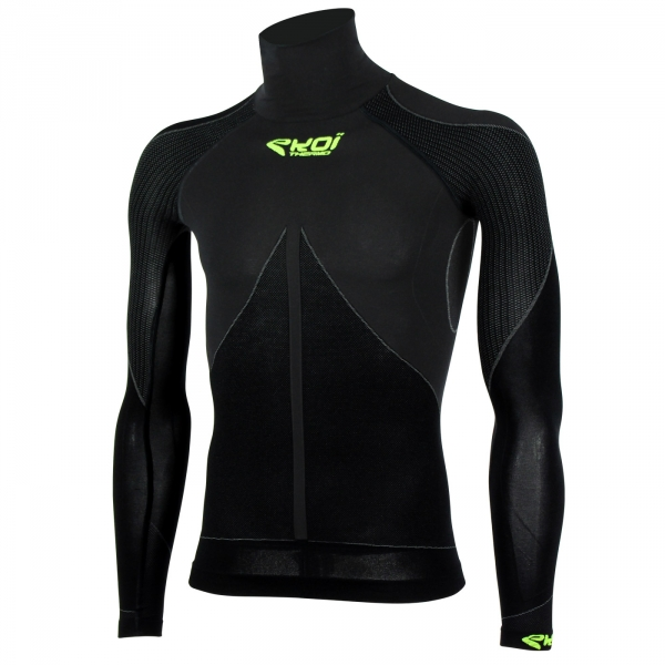 EKOI TECH 3 LS black polo neck base layer