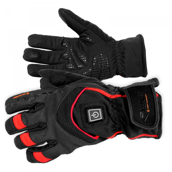 EKOI HEAT Concept heated black winter cycling gloves