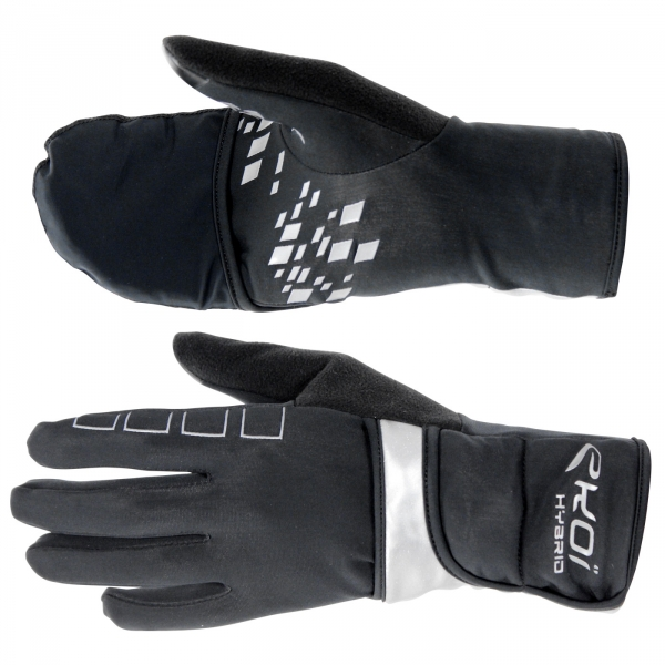 Winter Gloves EKOI HYBRID 2016 Black