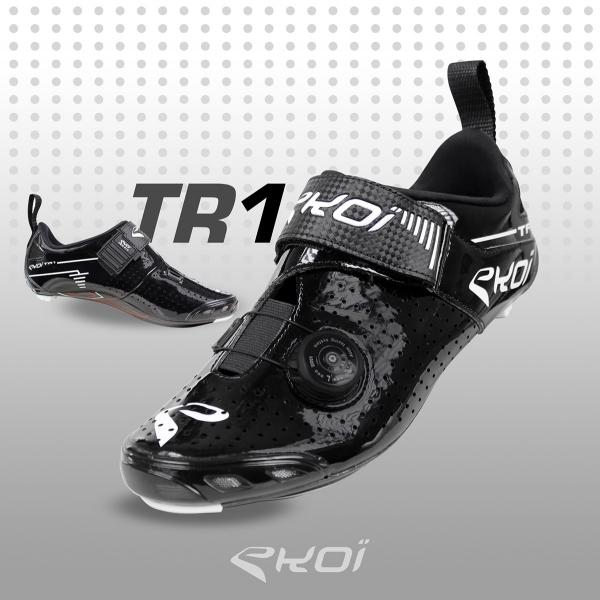 Triathlonschoenen EKOI TRI1 LTD Koolstofvezel zwart